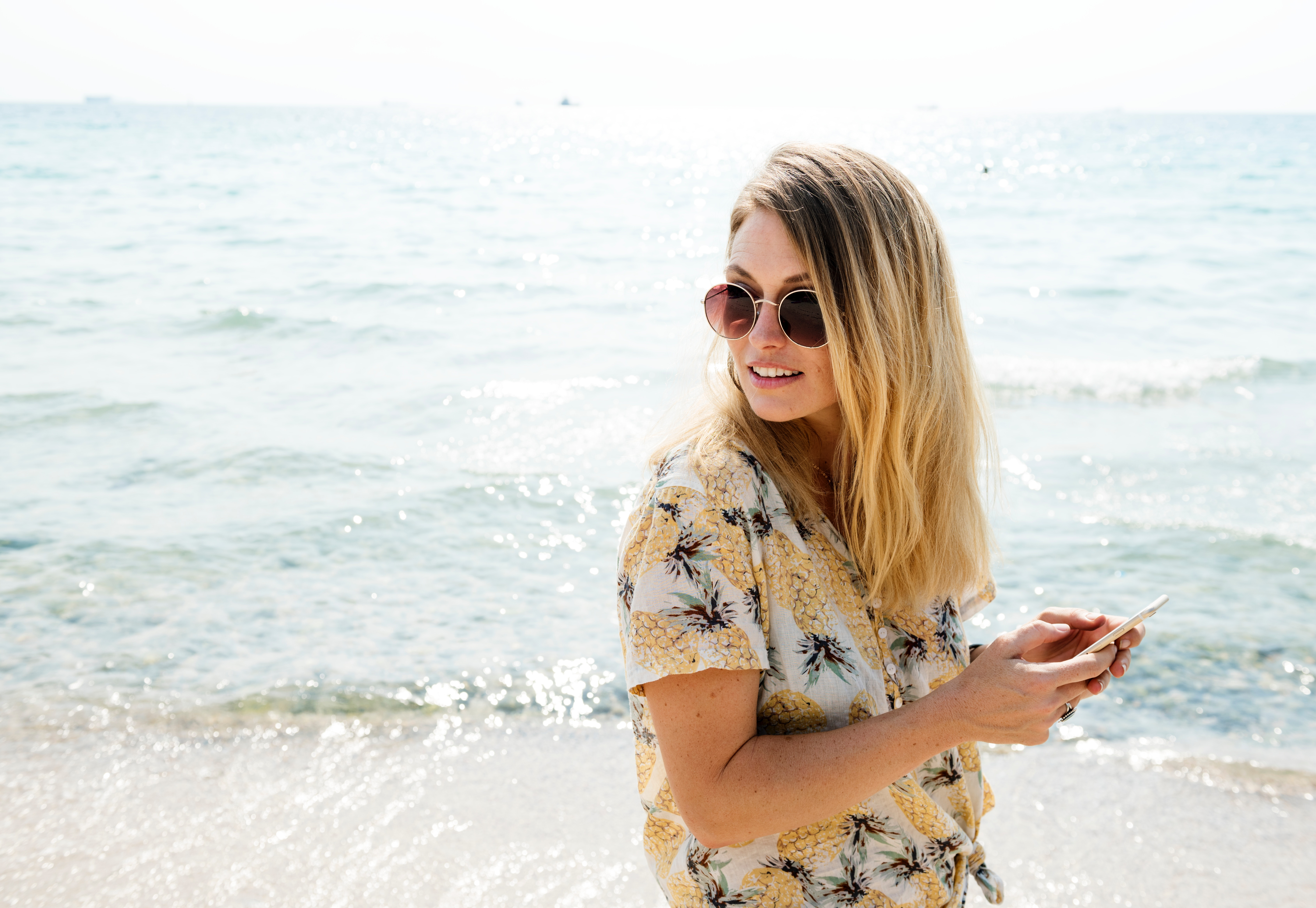 woman on cellphone - mobile friendly checkout