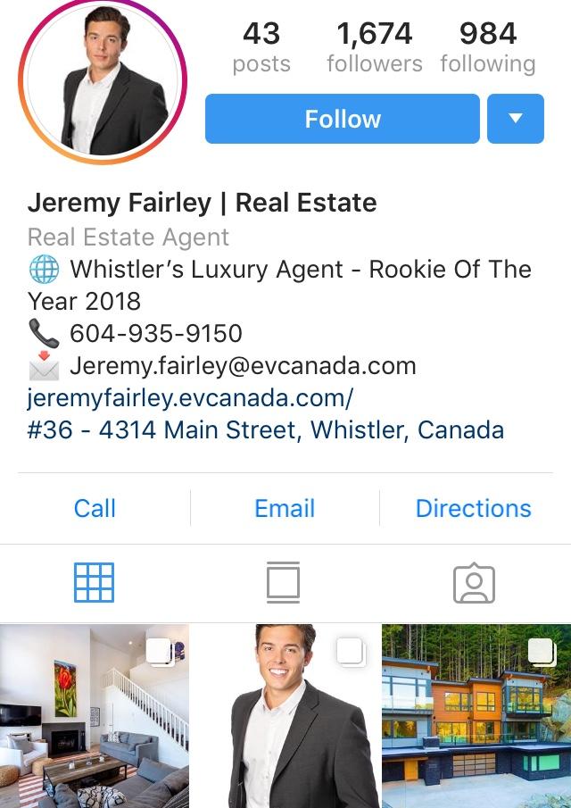 realtor - optimize instagram profile for real estate agents