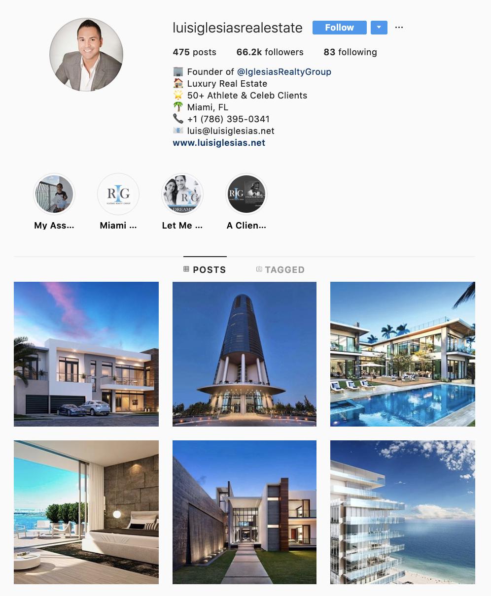 instagram - optimize instagram profile for real estate agents